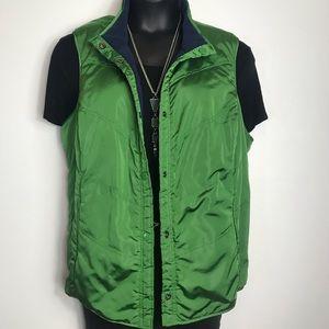 D & Co Denim & Co Reversible Green/Blue Vest 3X